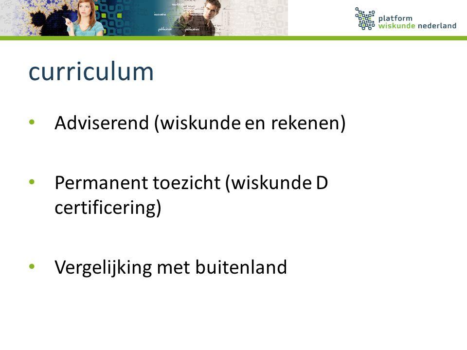 curriculum Adviserend (wiskunde en rekenen)