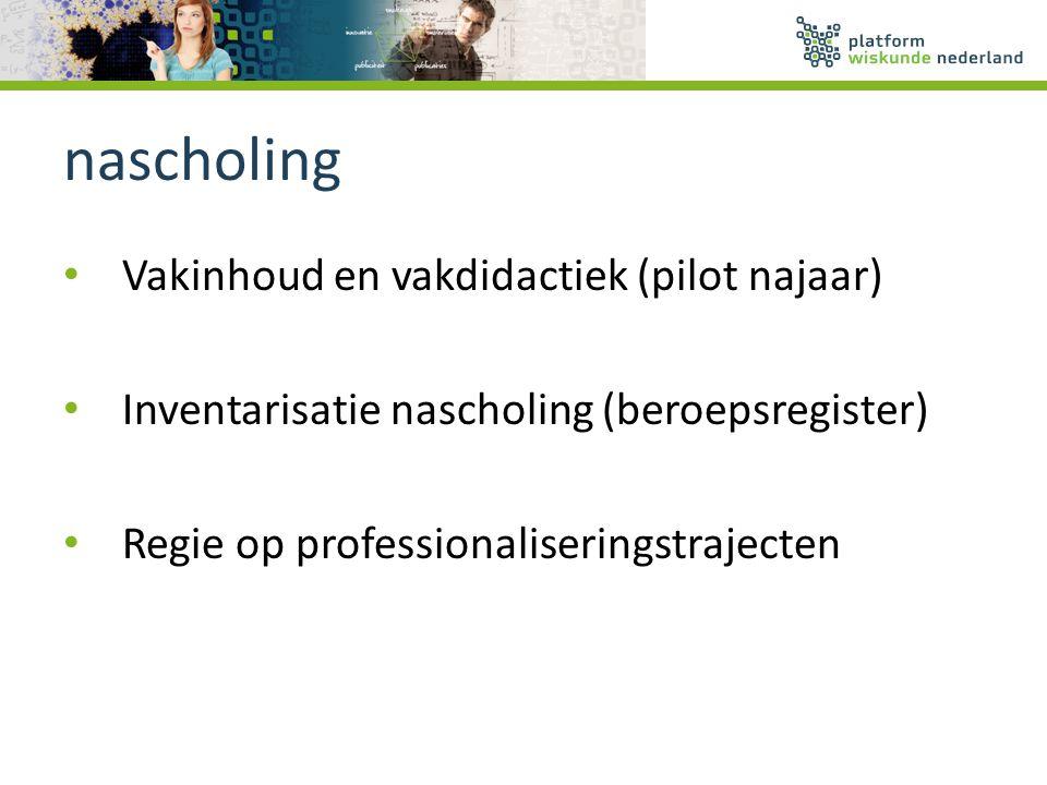 nascholing Vakinhoud en vakdidactiek (pilot najaar)