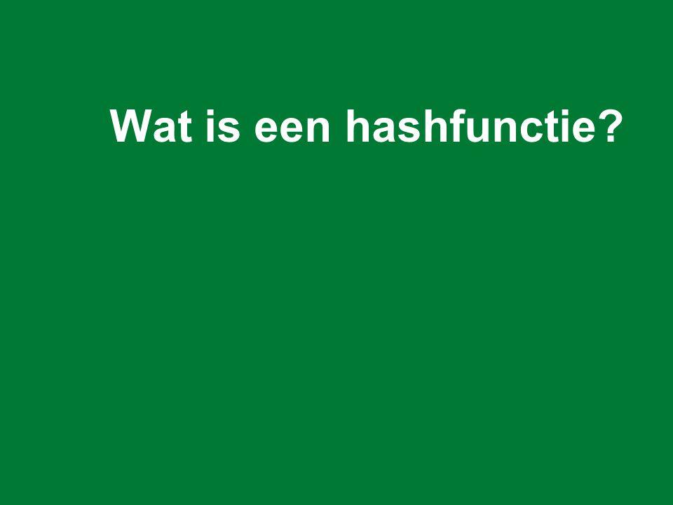 Wat is een hashfunctie