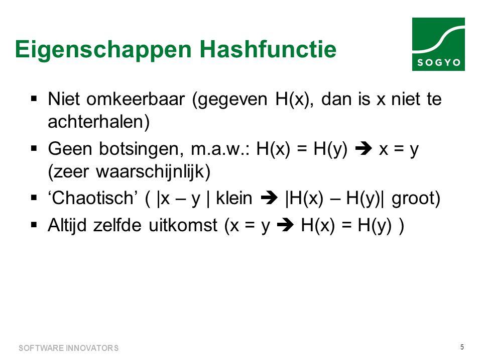 Eigenschappen Hashfunctie