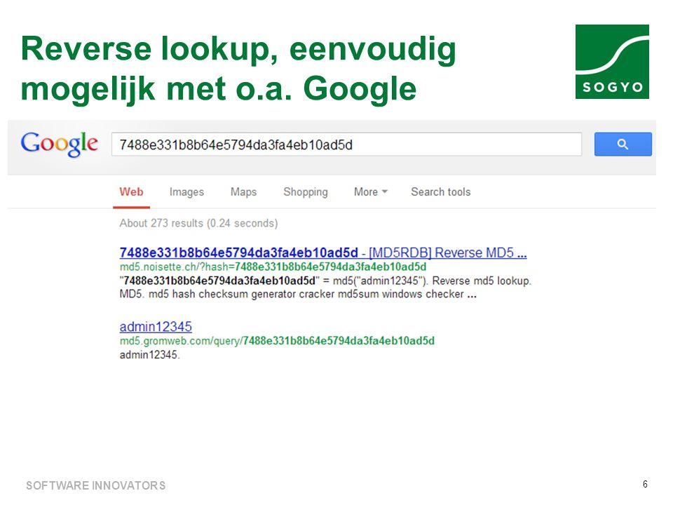 Reverse lookup, eenvoudig mogelijk met o.a. Google