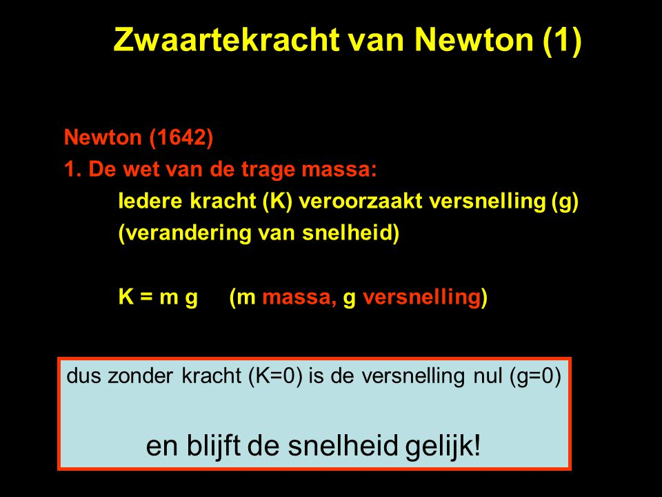 Zwaartekracht van Newton (1)