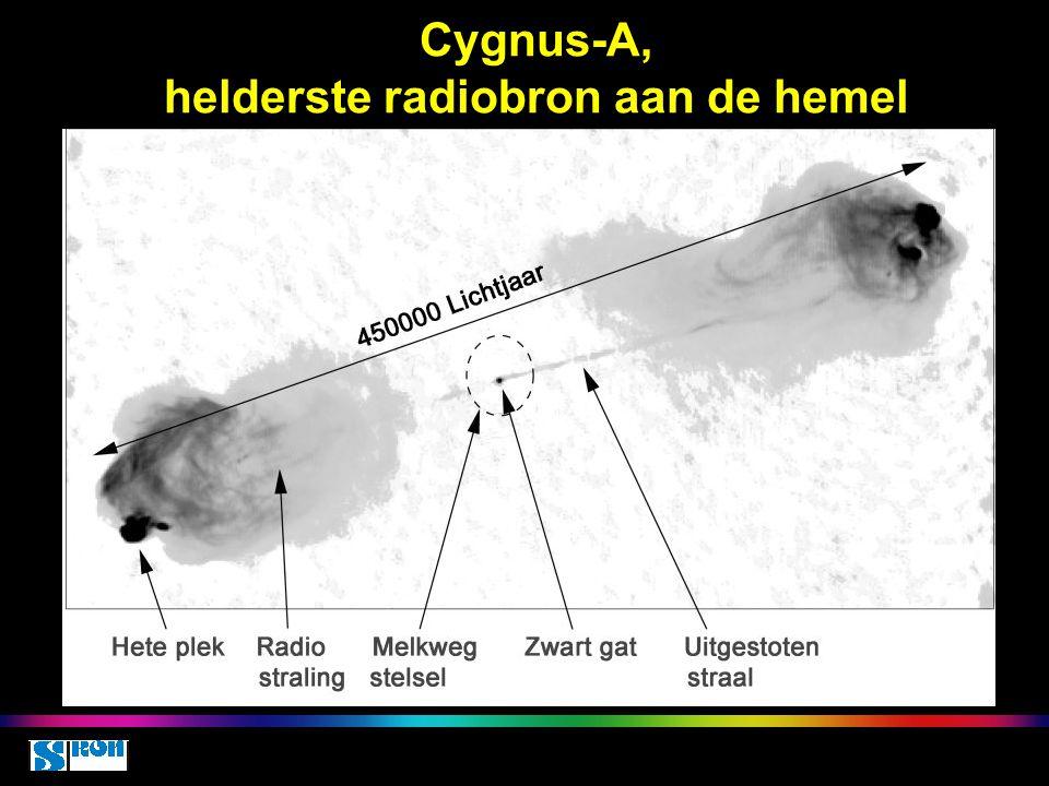Cygnus-A, helderste radiobron aan de hemel
