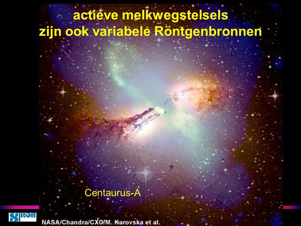 actieve melkwegstelsels zijn ook variabele Röntgenbronnen