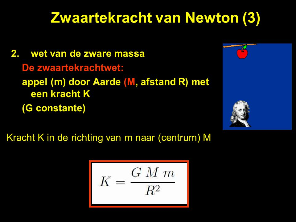 Zwaartekracht van Newton (3)