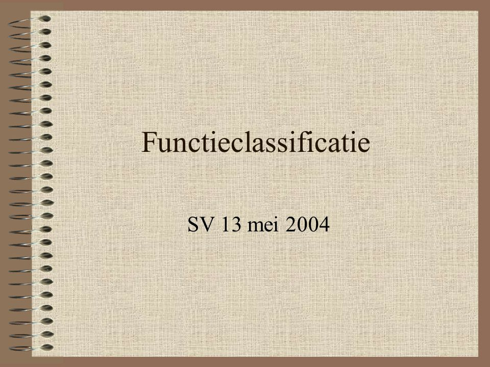 Functieclassificatie