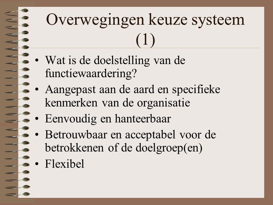 Overwegingen keuze systeem (1)