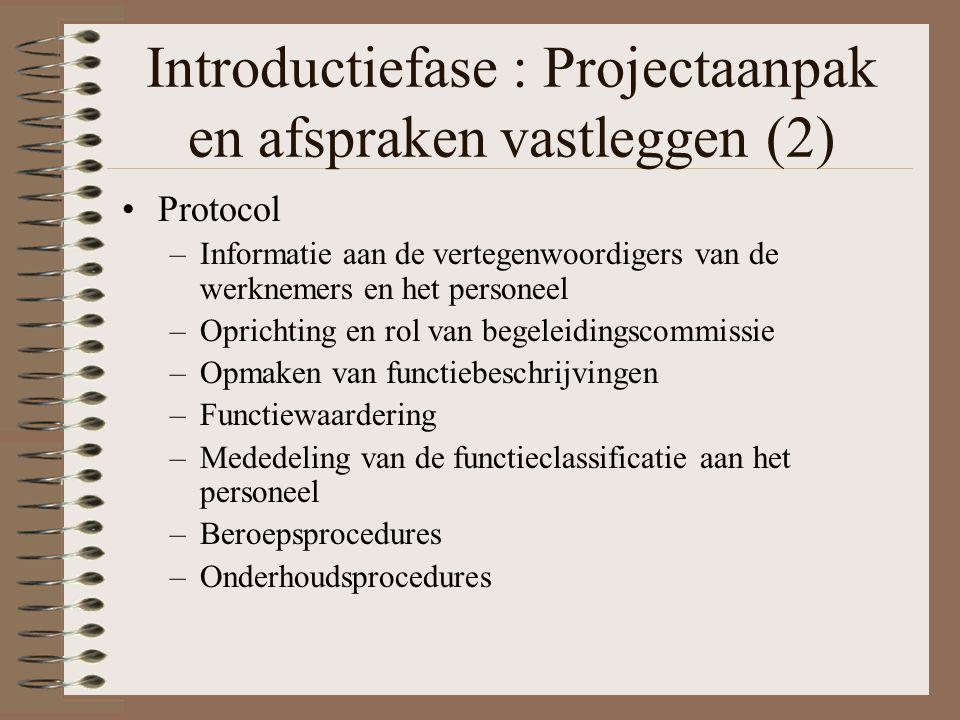 Introductiefase : Projectaanpak en afspraken vastleggen (2)