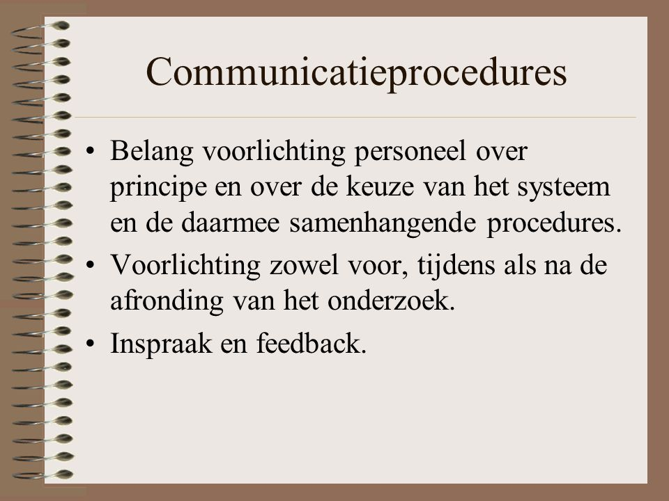 Communicatieprocedures