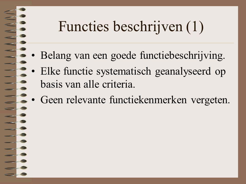 Functies beschrijven (1)