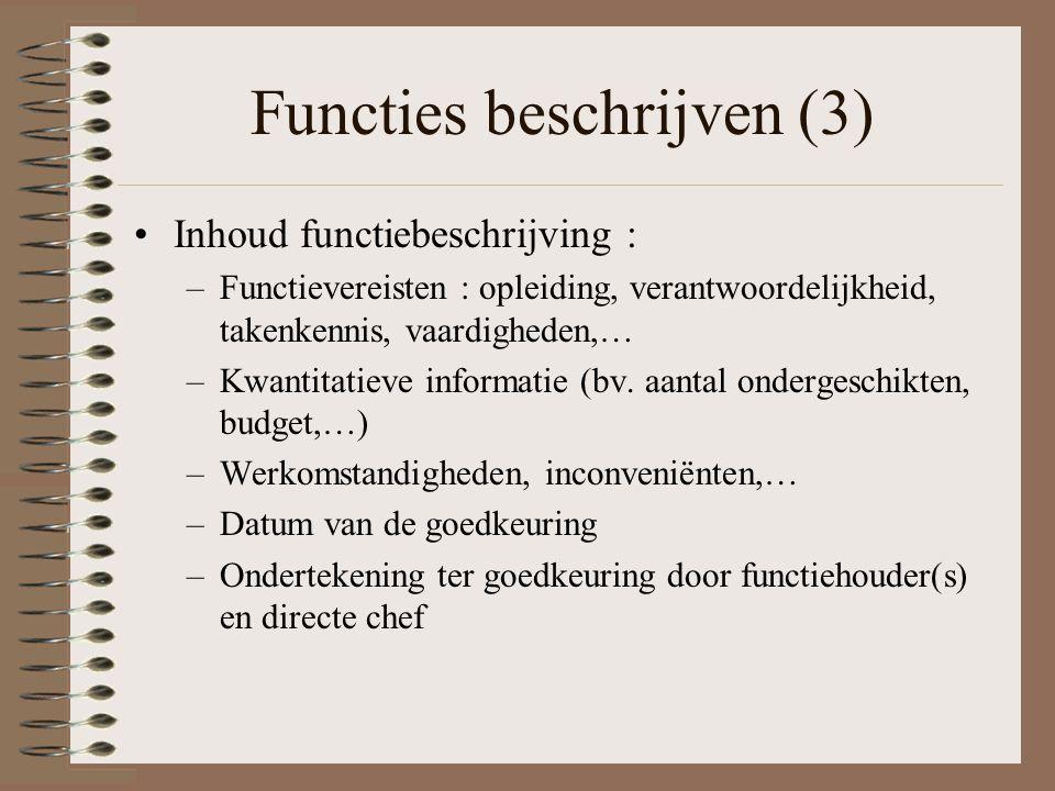 Functies beschrijven (3)