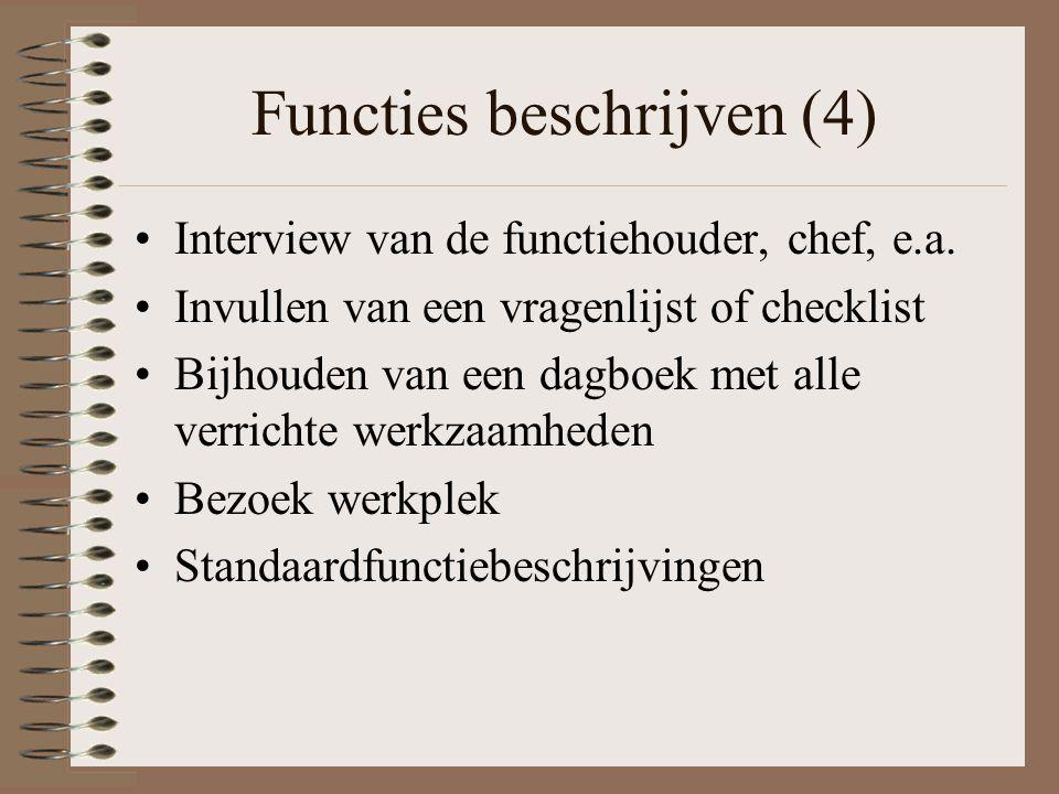 Functies beschrijven (4)