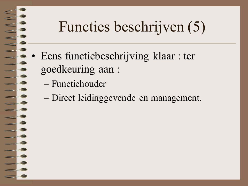 Functies beschrijven (5)