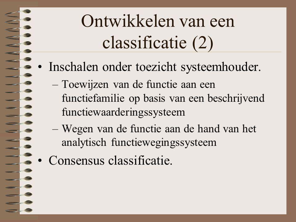 Ontwikkelen van een classificatie (2)