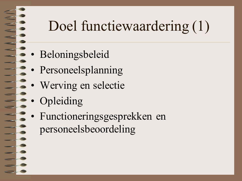 Doel functiewaardering (1)