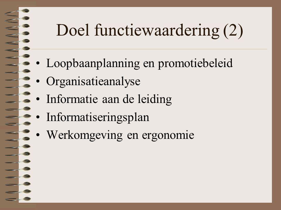 Doel functiewaardering (2)