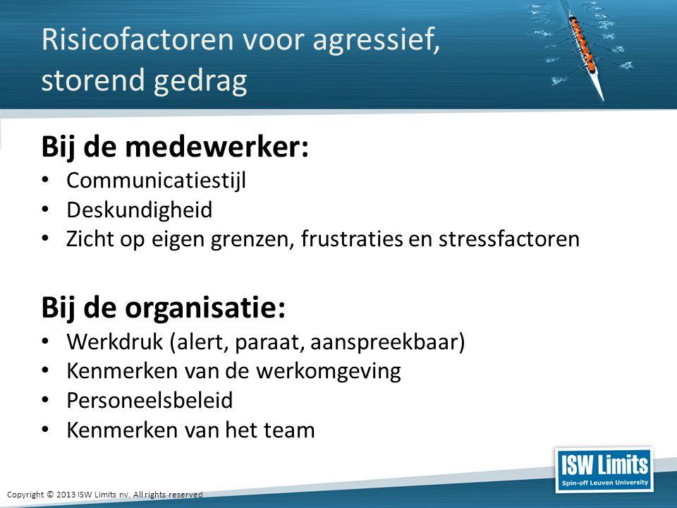 Risicofactoren voor agressief, storend gedrag