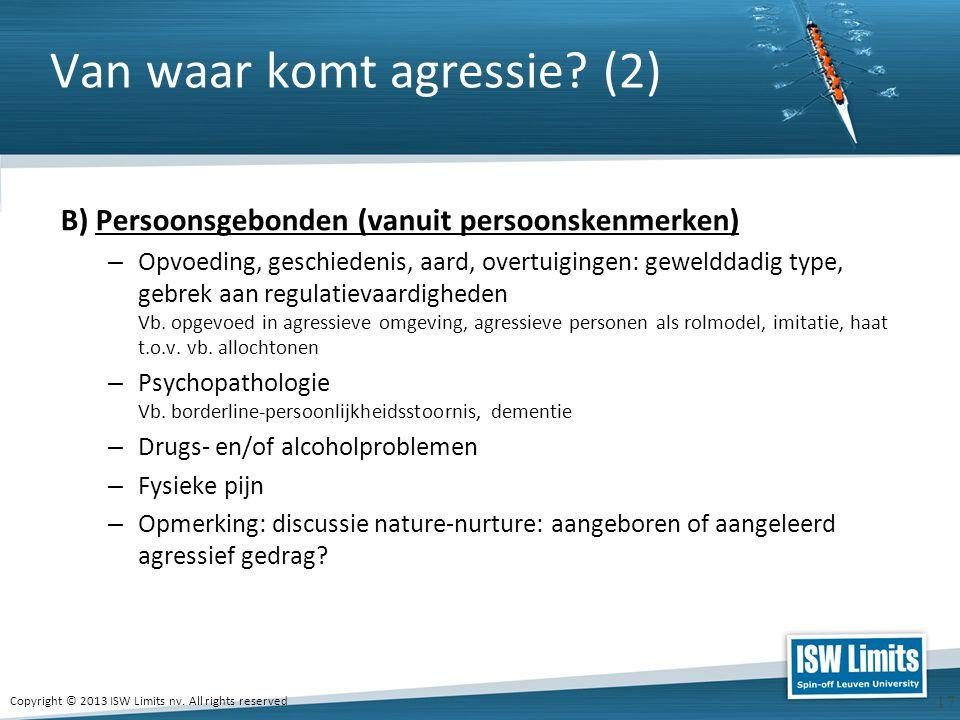 Van waar komt agressie (2)