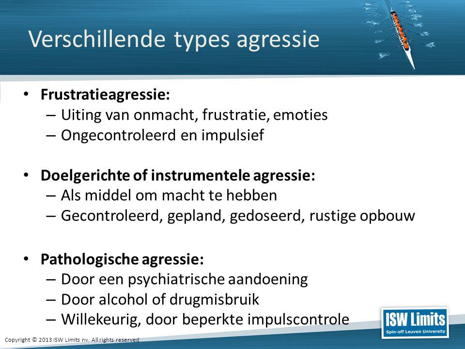 Verschillende types agressie