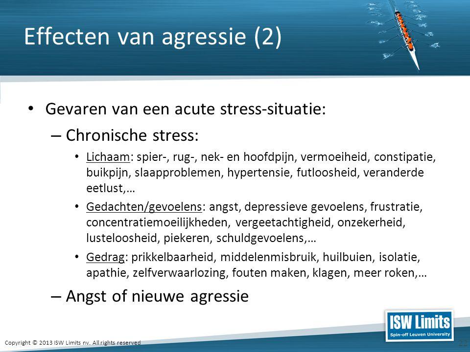 Effecten van agressie (2)