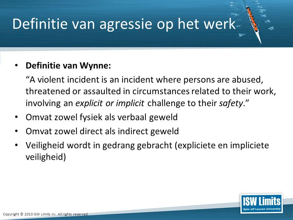 Definitie van agressie op het werk