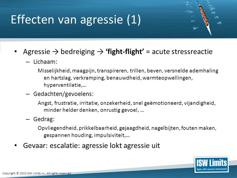 Effecten van agressie (1)