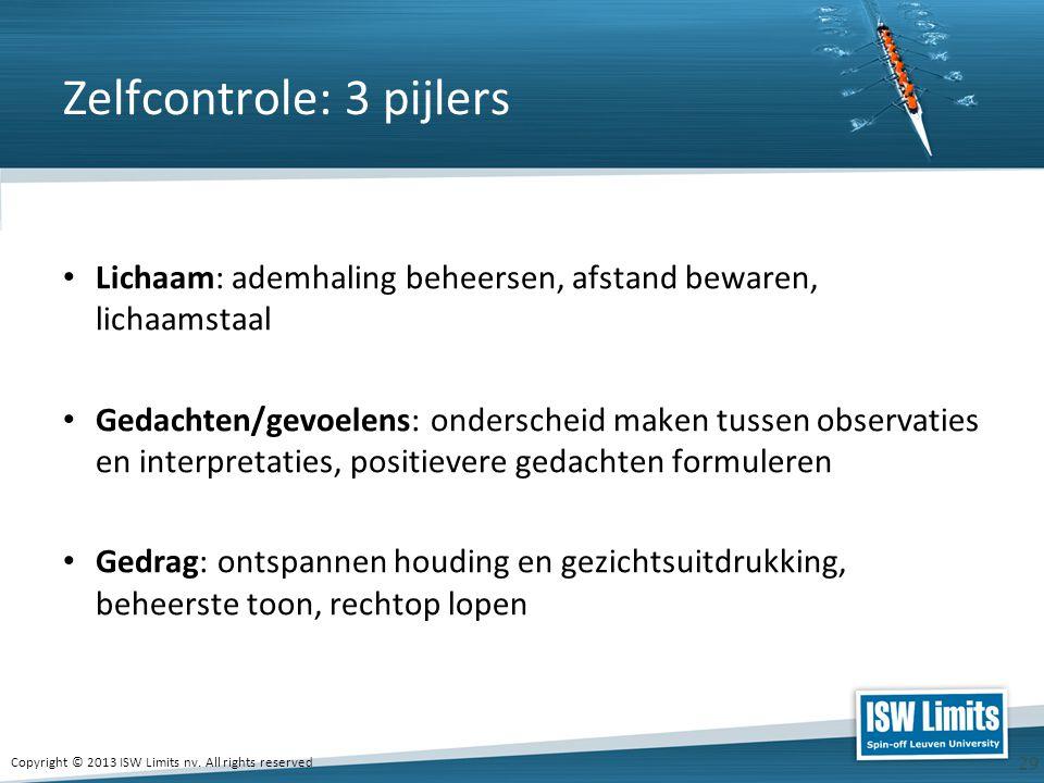 Zelfcontrole: 3 pijlers