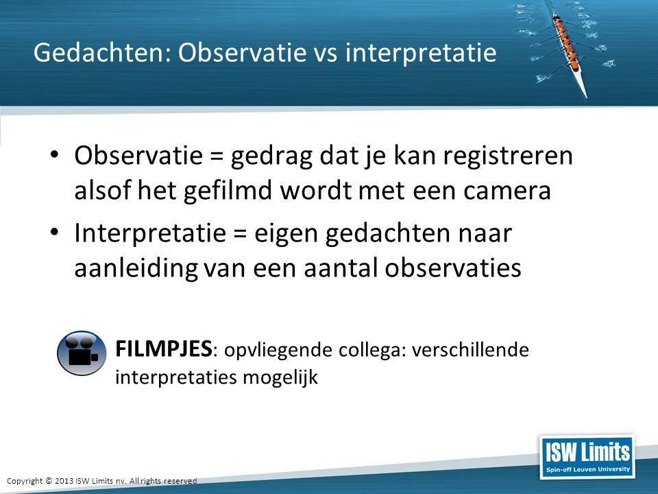 Gedachten: Observatie vs interpretatie