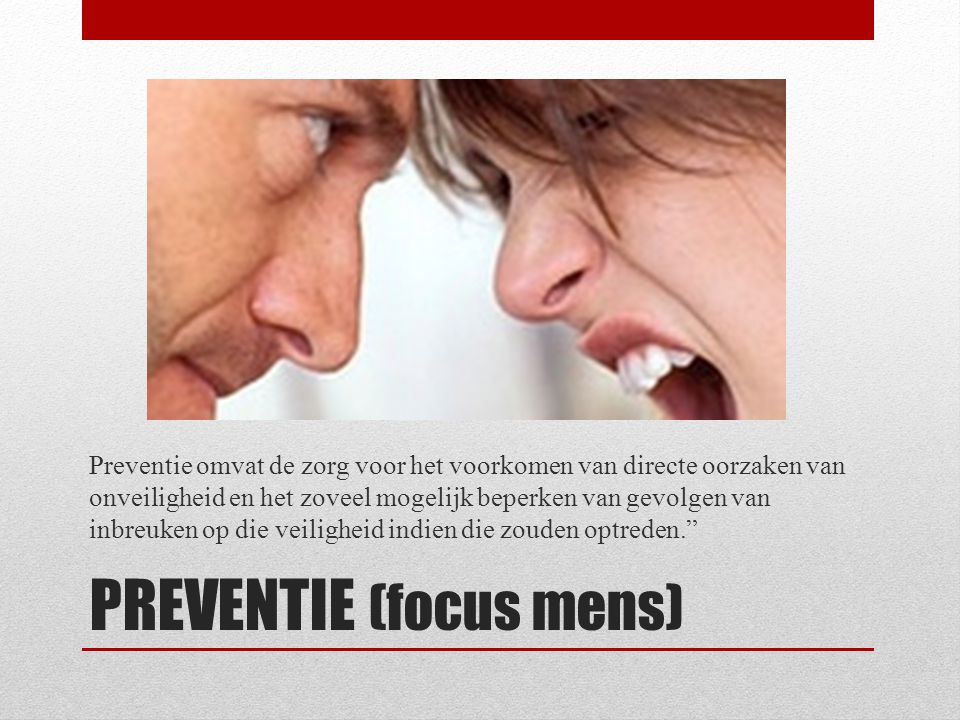 PREVENTIE (focus mens)