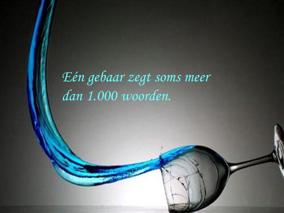 Eén gebaar zegt soms meer dan 1.000 woorden.