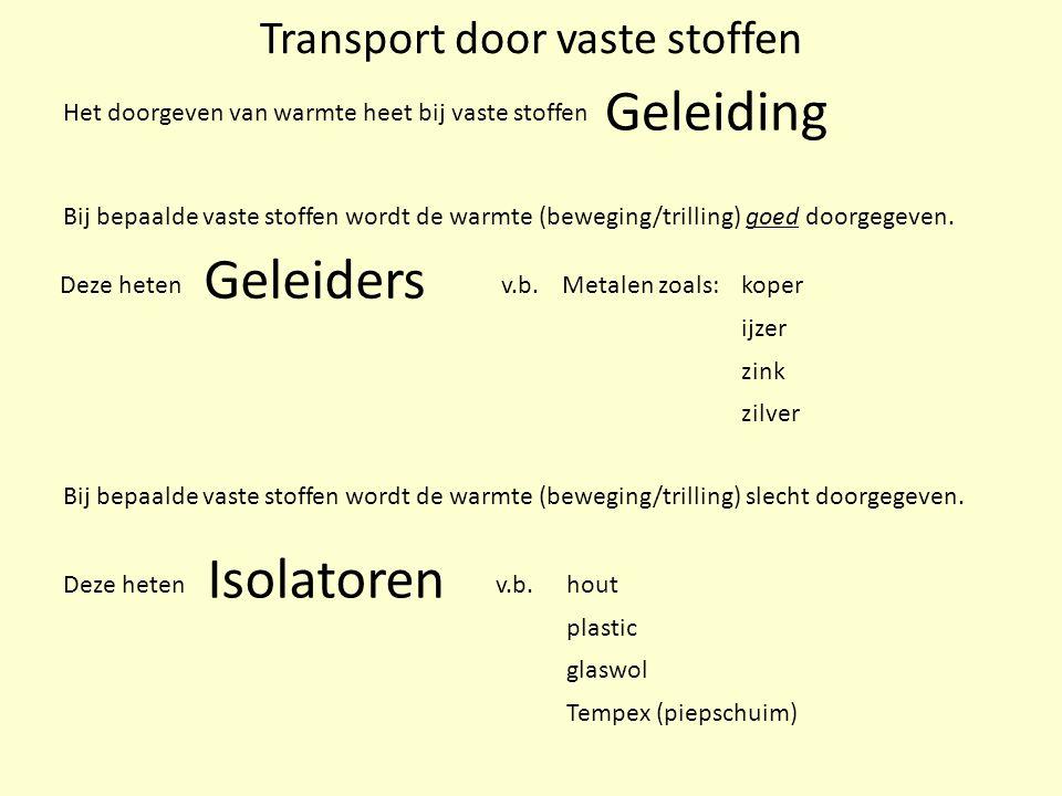Transport door vaste stoffen