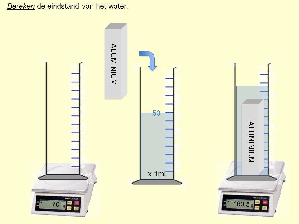 Bereken de eindstand van het water.