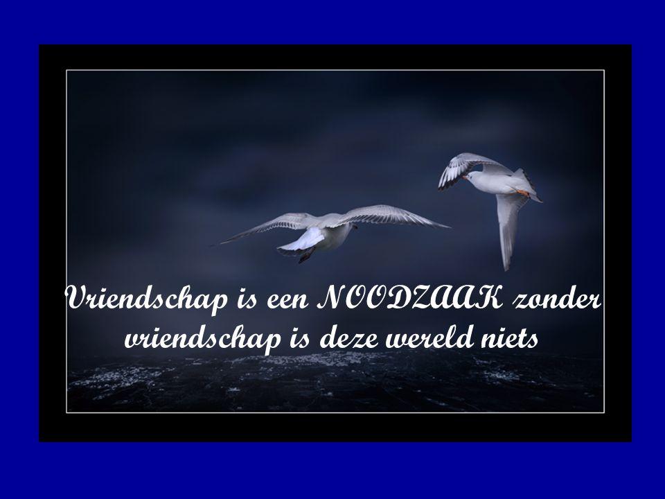 Vriendschap is een NOODZAAK zonder vriendschap is deze wereld niets
