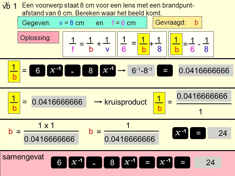 - - vb 1 1 f = b + v 1 6 = + 8 b 1 6 = - 8 b 1 b = x -1 8 6 6-1-8-1 =