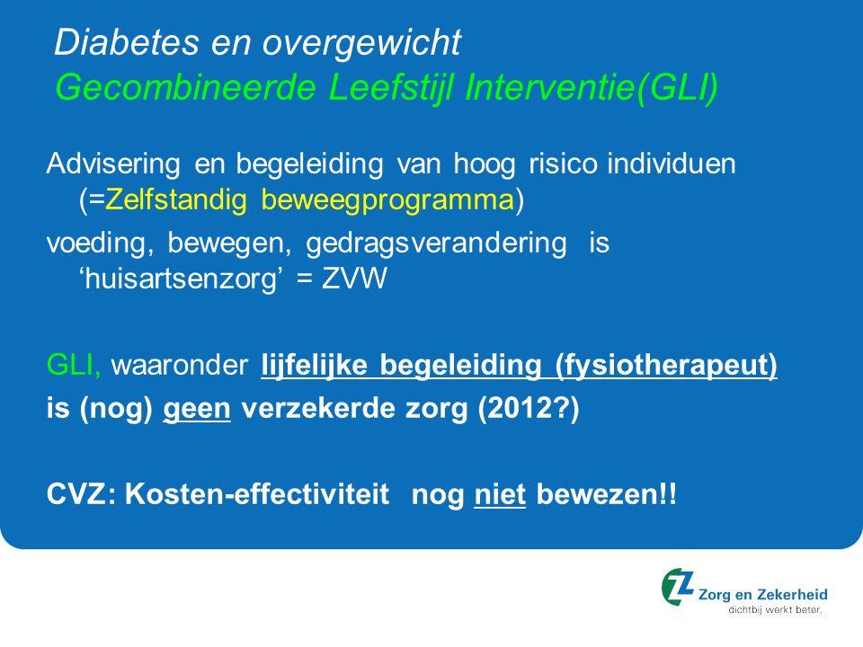 Diabetes en overgewicht Gecombineerde Leefstijl Interventie(GLI)