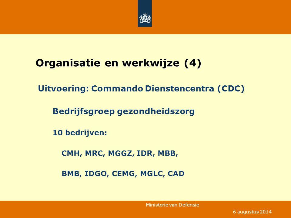 Organisatie en werkwijze (4)