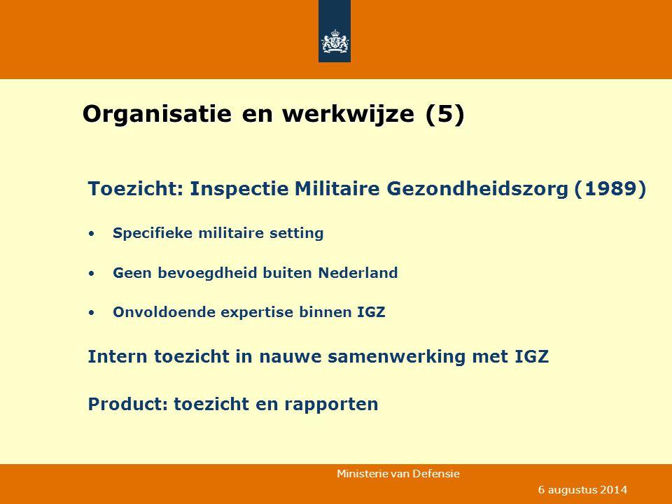 Organisatie en werkwijze (5)