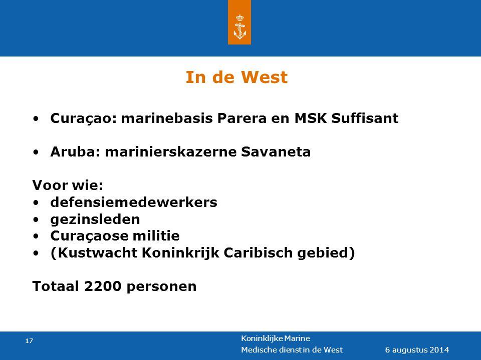 In de West Curaçao: marinebasis Parera en MSK Suffisant