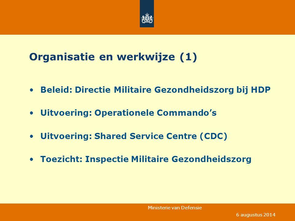 Organisatie en werkwijze (1)
