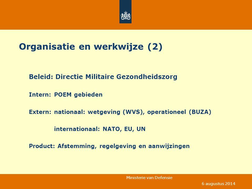 Organisatie en werkwijze (2)