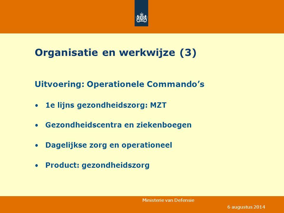 Organisatie en werkwijze (3)