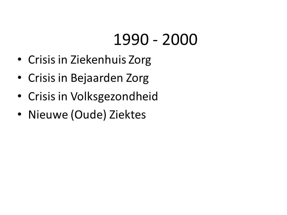 1990 - 2000 Crisis in Ziekenhuis Zorg Crisis in Bejaarden Zorg