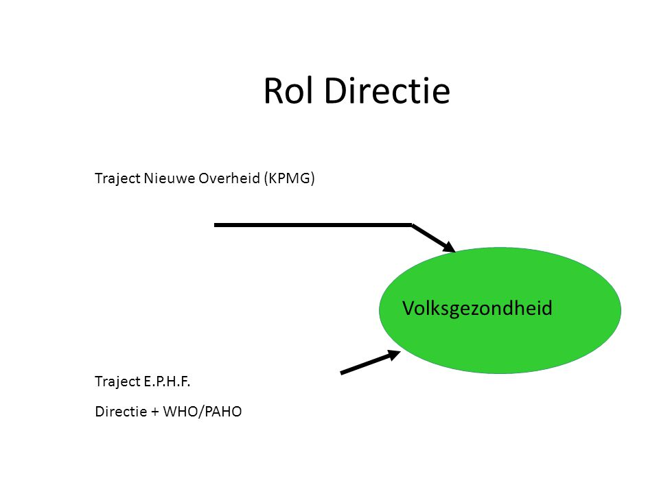 Rol Directie Volksgezondheid Traject Nieuwe Overheid (KPMG)