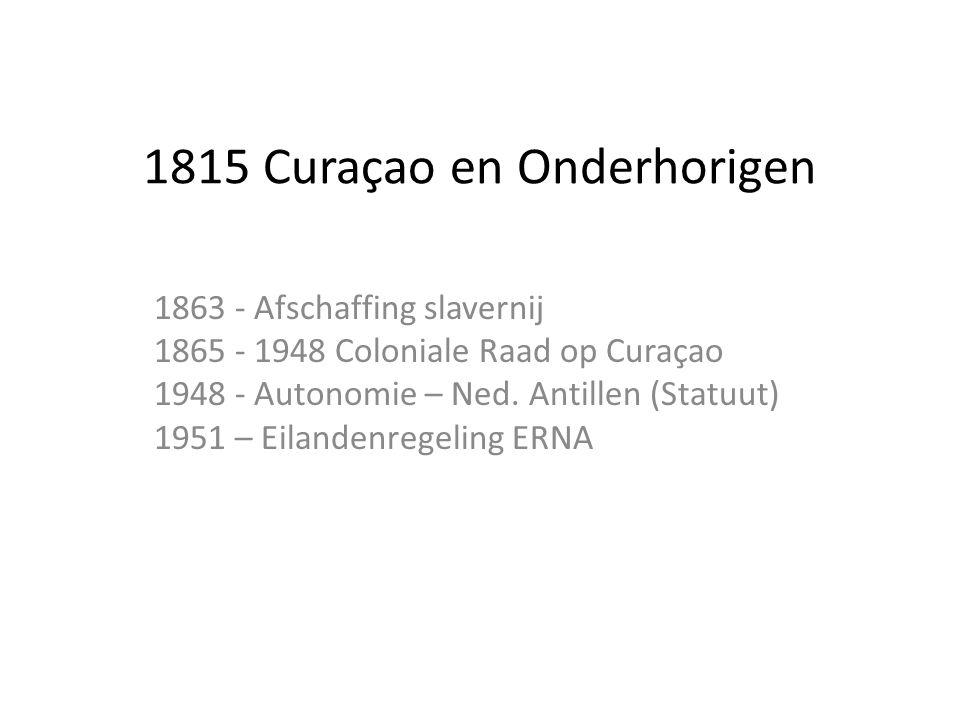 1815 Curaçao en Onderhorigen