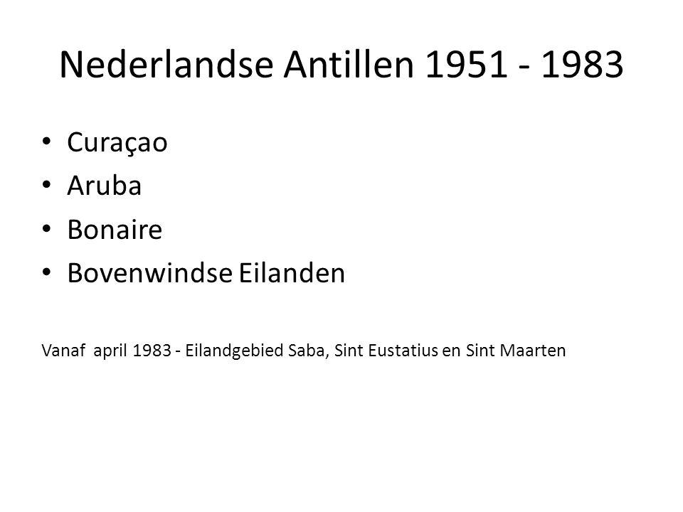Nederlandse Antillen 1951 - 1983