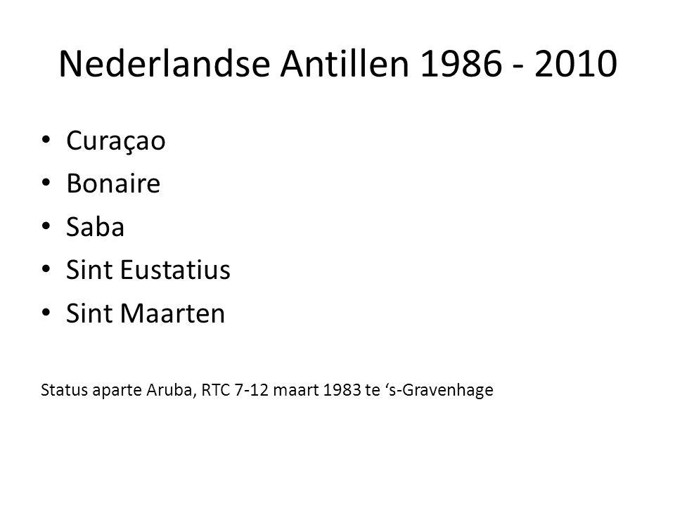 Nederlandse Antillen 1986 - 2010