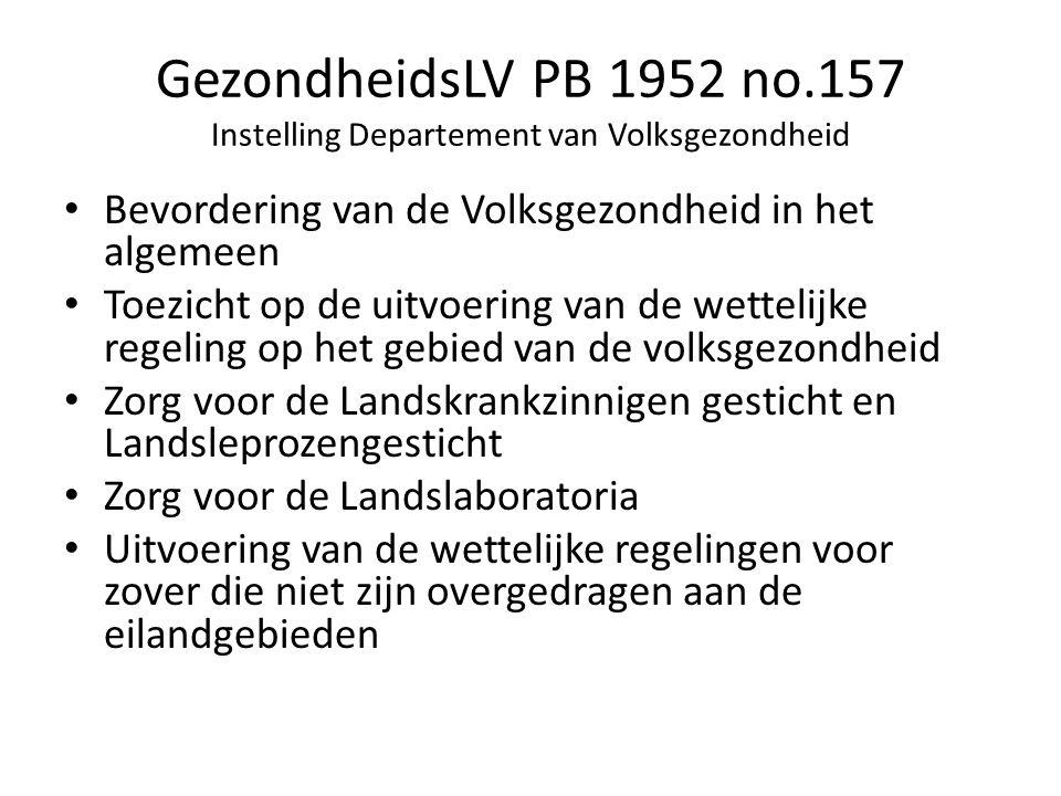 GezondheidsLV PB 1952 no.157 Instelling Departement van Volksgezondheid