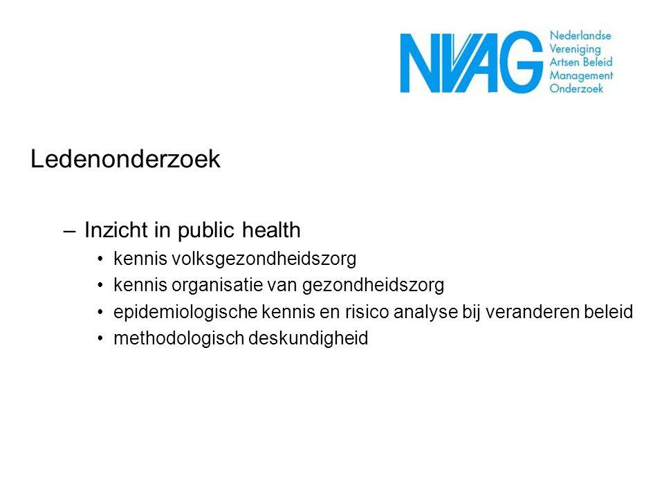 Ledenonderzoek Inzicht in public health kennis volksgezondheidszorg