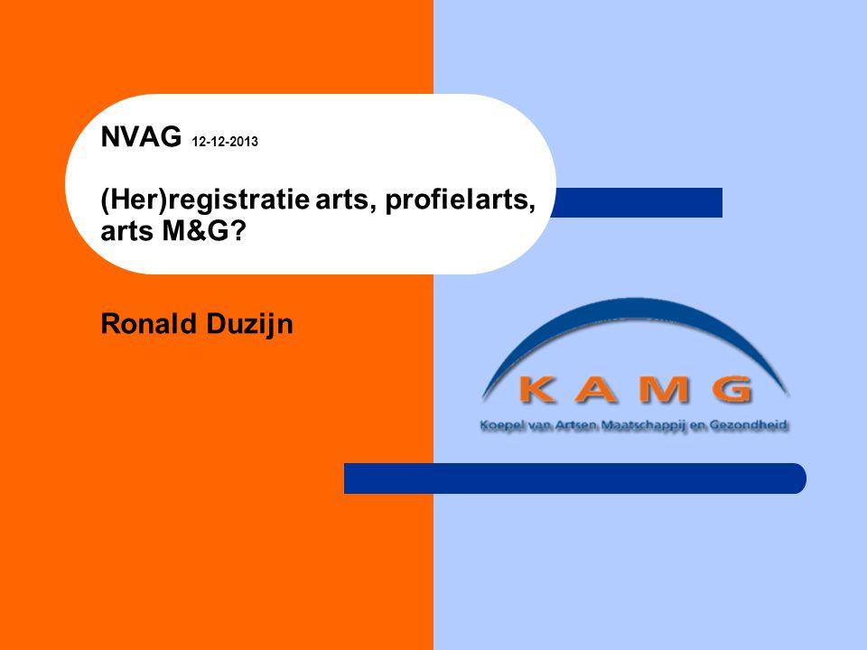 NVAG 12-12-2013 (Her)registratie arts, profielarts, arts M&G