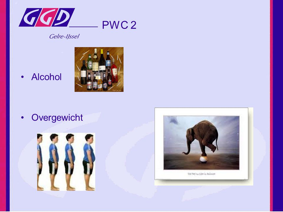 PWC 2 Alcohol Overgewicht
